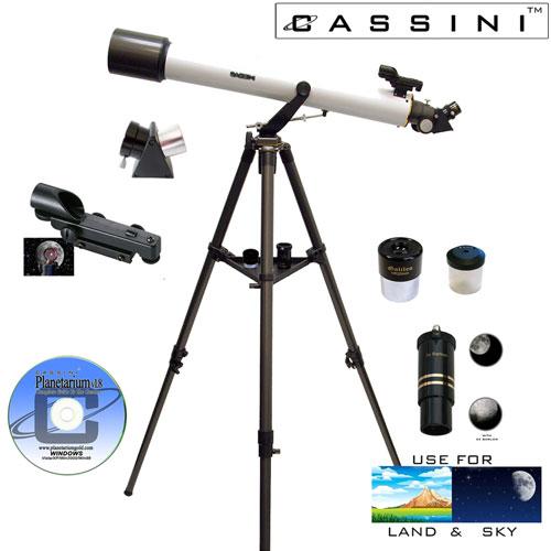 Astronomical/Terrestrial 7 Piece Telescope Kit - 800 x 72