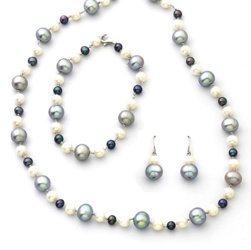 'White/Black/Grey Pearl Bracelet'