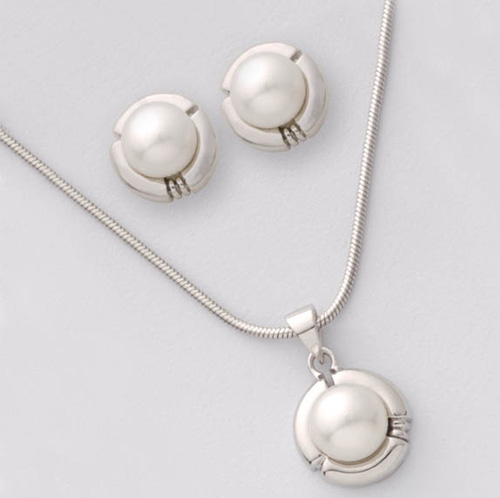 'Sterling Silver Pearl Set'