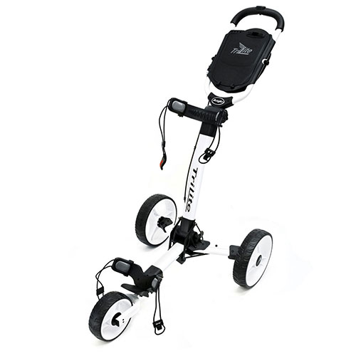 'White TriLite 3-Wheel Push Cart'