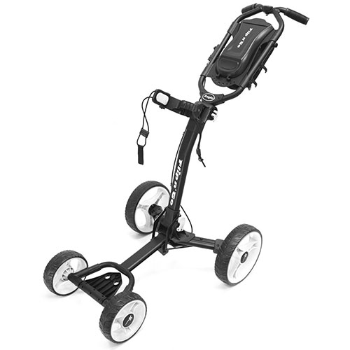'Black/White Flip-N-Go 4-Wheel Golf Cart'