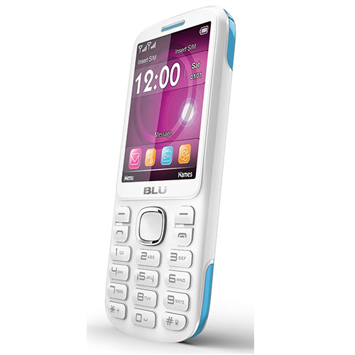 Blu Jenny TV 2.8 T276T GSM Phone - White/Blue