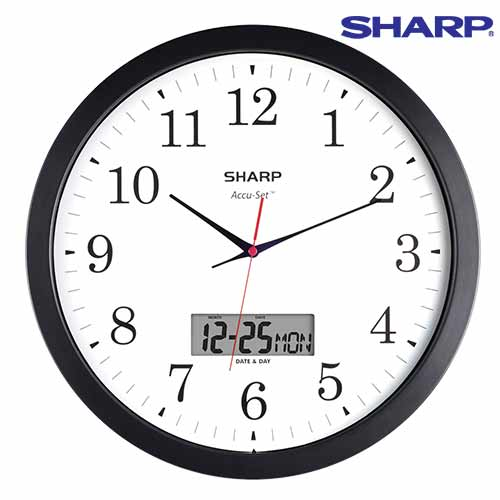 'Sharp Analog/Digital Wall Clock'