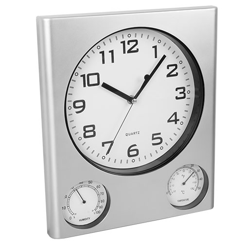 Indoor Outdoor Thermometer Clock