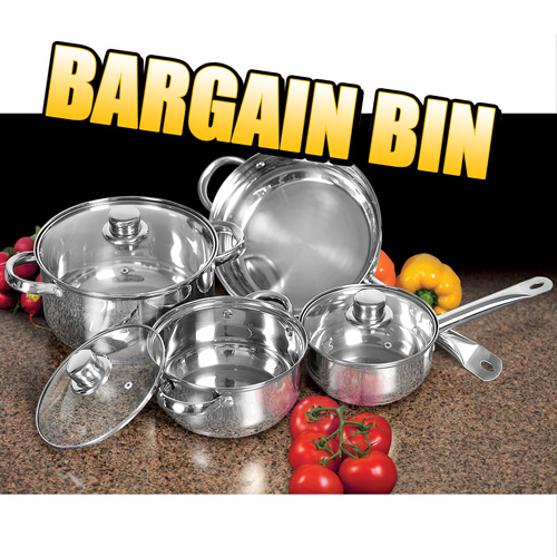 '7 Piece Stainless Steel Cookware'
