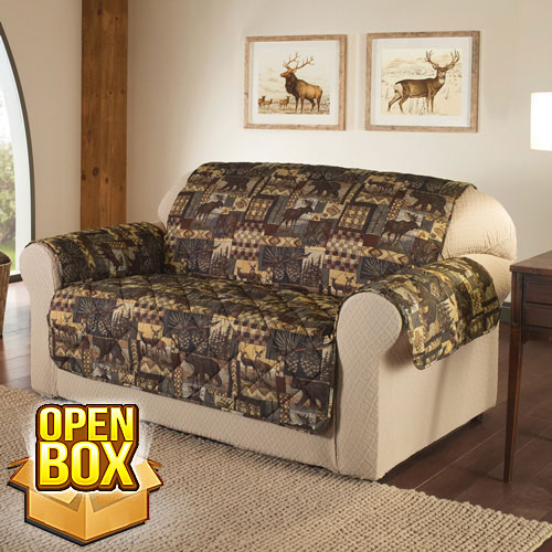 Lodge Print Furniture Protector - Loveseat