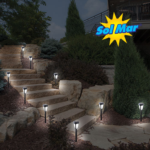 '10 Piece Color Changing Solar Lights'