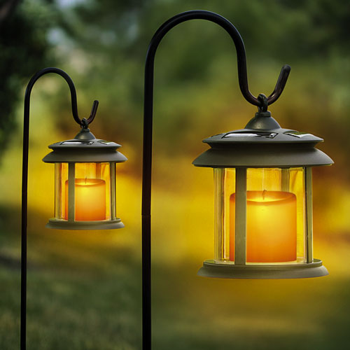 'Flicker Candle Solar Lights - Pair'