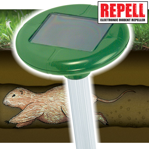 '2 Pack Solar Mole Repellers'