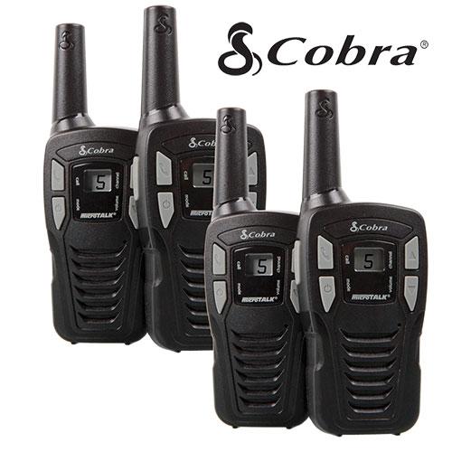 2 Pair Cobra 16-Mile GMRS Radios