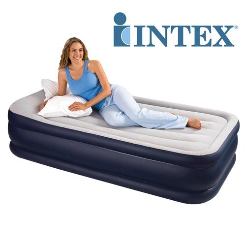 'Intex 19 inch Raised Air Bed - Twin'