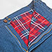 Plaid Flannel Lined Jeans