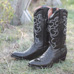 ferrini-python-boots---black
