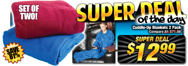 82% Off In-Season Cuddle Blanket Blowout, Only $12.99!
