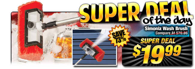 73% off Simoniz Telescoping Wash Brush - Compare at $76.86 - Super Deal $19.99