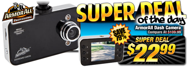 80% Off ArmorAll Dash Camera - Compare At $109.99 - Super Deal $22.99